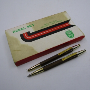 Vintage Royal set Ball pen & automatic lead pencil - not working