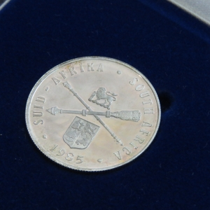 1985 RSA Parliament proof silver R1