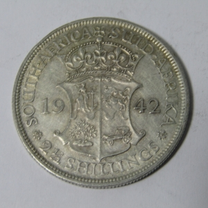 1942 South Africa VF+ half crown