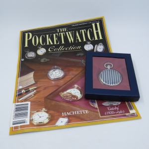 1920's Style Gatsby full hunter quartz pocketwatch - Hachette pocketwatch collection #28 - Working