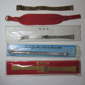 Lot of 5 vintage ladies watch straps