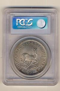 RSA 1962 Fifty Cent graded MS 63 by PCGS - Crown size