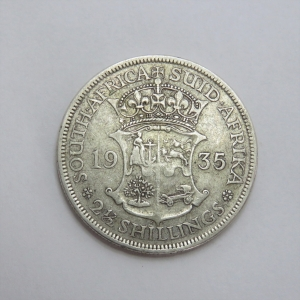 1935 South Africa half crown