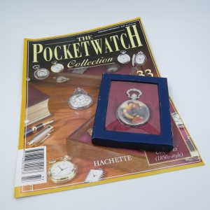 1850's Style Confidence full hunter quartz pocketwatch - Hachette pocket watch collection #33 - Working