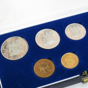 1989 RSA short proof set with silver R1