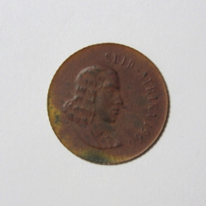South Africa 1966 one cent - Weighs only 1,2 gram - Very thin