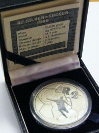 1996 RSA proof silver R2 - still sealed - soccer