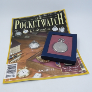 1880's Style Ace of Diamonds quartz pocketwatch - Hachette pocketwatch collection #44 - Working
