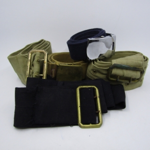 Lot of 5 Military & Police belts