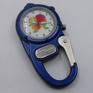 Promotional Carabiner clip watch - working