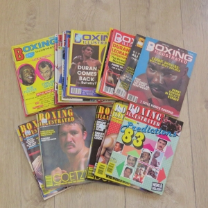 Lot of 24 Boxing Illustrated magazines dated between November 1965 and September 1984