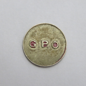 Post Office token - South Africa - Unusual with C at the back and in silver