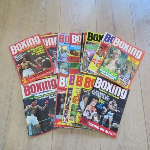 Lot of 28 Boxing International magazines dated between 1975 & 1977
