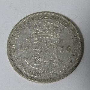 1936 South Africa half crown VF+