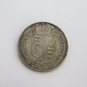1888 Great Britain Victoria Shilling in excellent condition