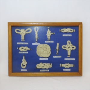 Display of different marine knots in frame