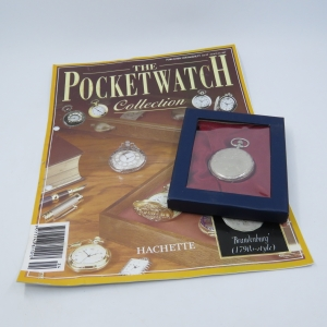 1790's Style Brandenburg full hunter quartz pocketwatch - Hachette pocketwatch collection #24 - Working