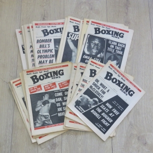 Boxing News Weekly magazine dated between 13 August 1971 and 25 February 1983 - Mostly 1972 magazines - 35 in Total