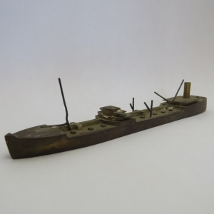 Vintage brass ship model - Marked 6R/16