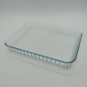 Pyrex 24cm Rectangular glass pie baking tray