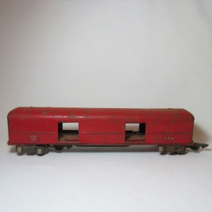 American Flyer Lines no 494 - Goods wagon - Tinplate - Some wheels missing